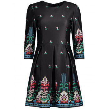 Printed Swing Dress