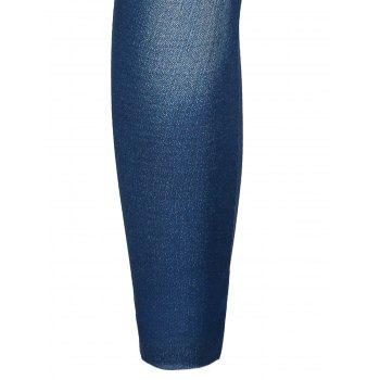 Stylish Women's Bleach Wash Hole Jean Legging - BLUE ONE SIZE(FIT SIZE XS TO M)