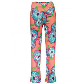 Fashionable Elastic Waist Loose-Fitting Floral Print Women's Exumas Pants