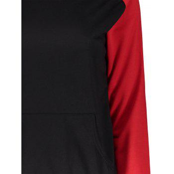 Charming Hooded Hit Color Pocket Design Pullover Hoodie For Women - S S