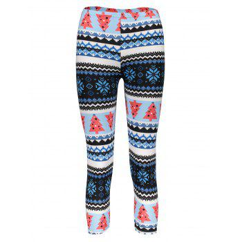 Trendy High Waist Geometrical Print Leggings Christmas For Women