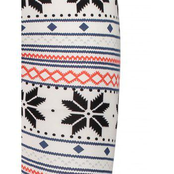 Stylish High Waist Geometrical Print Color Block Leggings For Women - COLORMIX ONE SIZE(FIT SIZE XS TO M)