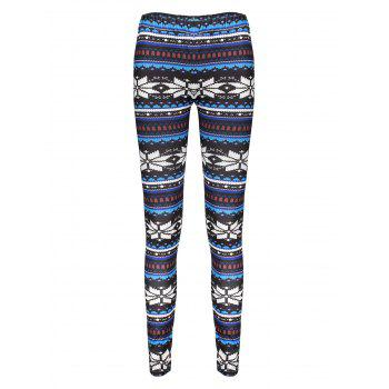 Stylish Elastic Waist Printed Skinny Women's Leggings