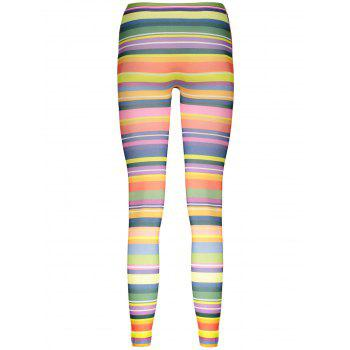 High Elasticity Straight Leg Colorful Print Women's Leggings - ONE SIZE ONE SIZE