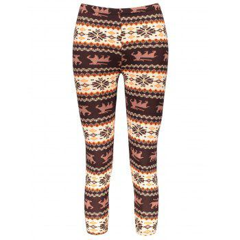Women's Chic Hit Color Print Stretchy Leggings