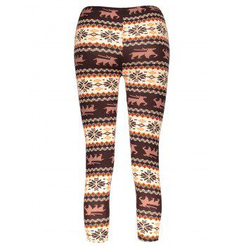 Women's Chic Hit Color Print Stretchy Leggings - COLORMIX ONE SIZE(FIT SIZE XS TO M)