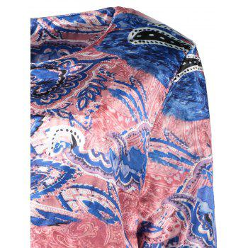Ethnic Women's Scoop Neck Long Sleeve Print Loose-Fitting Jacket - COLORMIX L