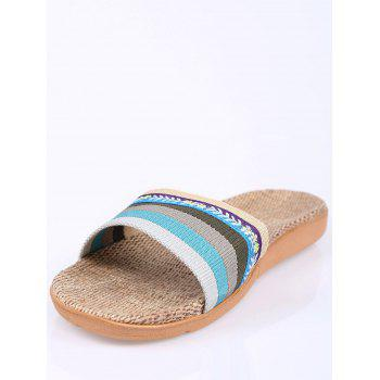 Ombre Striped House Slippers - BLUE SIZE(39-40)