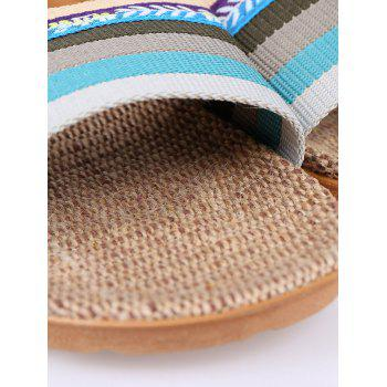 Ombre Striped House Slippers - BLUE SIZE(37-38)
