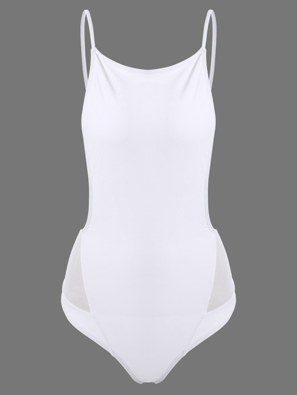 Open Back Cami SwimsuitWomen<br><br><br>Size: S<br>Color: WHITE