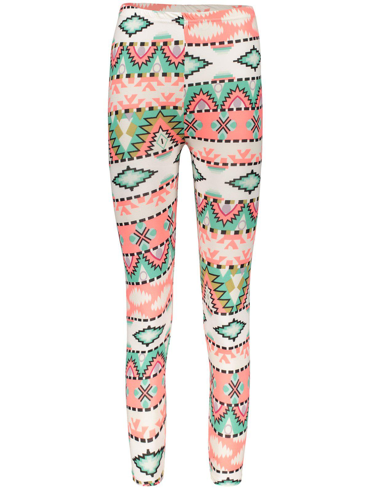 Geometrical Christmas Pattern Leggings For Women - COLORMIX ONE SIZE(FIT SIZE XS TO M)