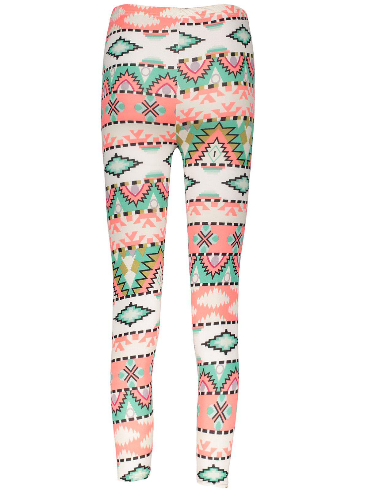 Geometrical Christmas Pattern Leggings For Women