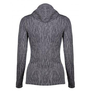 Dry-Quick Heathered Drawstring Hoodie - GRAY L
