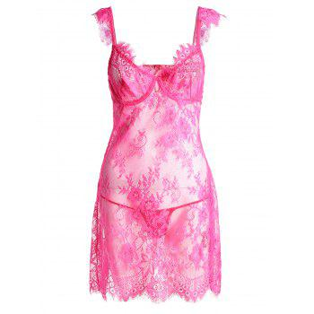Floral Lace See Through Babydoll