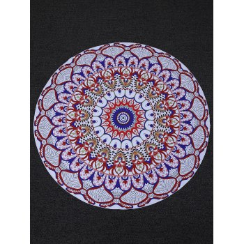 Round Printed Tapestry Beach Throw - ONE SIZE ONE SIZE