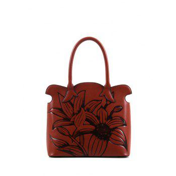 Scalloped Flower Eombossing Handbag