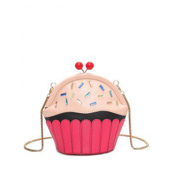 Rhinestone Cupcake Shaped Crossbody Bag