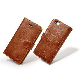 Faux Leather Card Slot Flip Wallet Case For iPhone - FOR IPHONE 7 FOR IPHONE 7