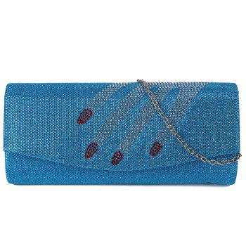 Rhinestone Fingers Pattern Flapped Clutch Bag - LIGHT BLUE LIGHT BLUE