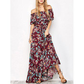 Off The Shoulder Maxi Floral Dress