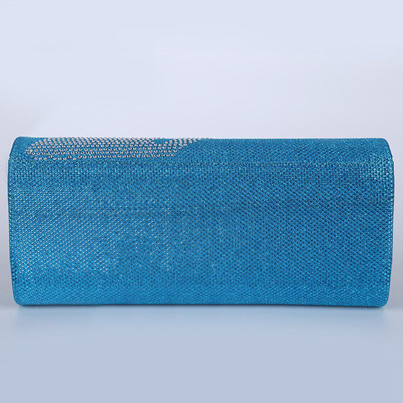 Rhinestone Fingers Pattern Flapped Clutch Bag - LIGHT BLUE