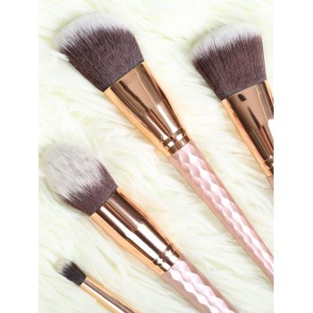 8 Pcs Rhombus Handle Makeup Brushes Set - ROSE GOLD
