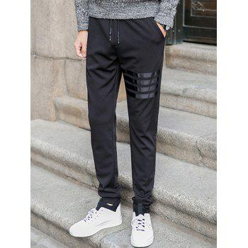 Stripe Drawstring Jogger Pants in Slim Fit