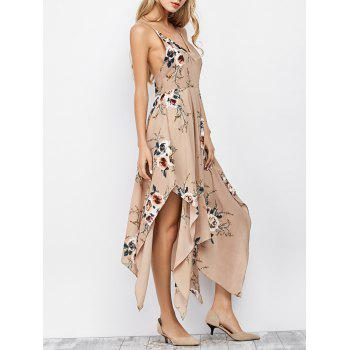 Floral Maxi Handkerchief Casual Slip Dress