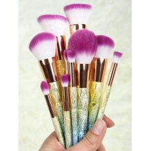 Ombre Glitter Makeup Brushes Set