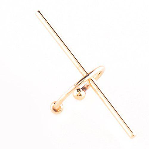 One Piece Crisscross Geometric Ear Cuff - GOLDEN