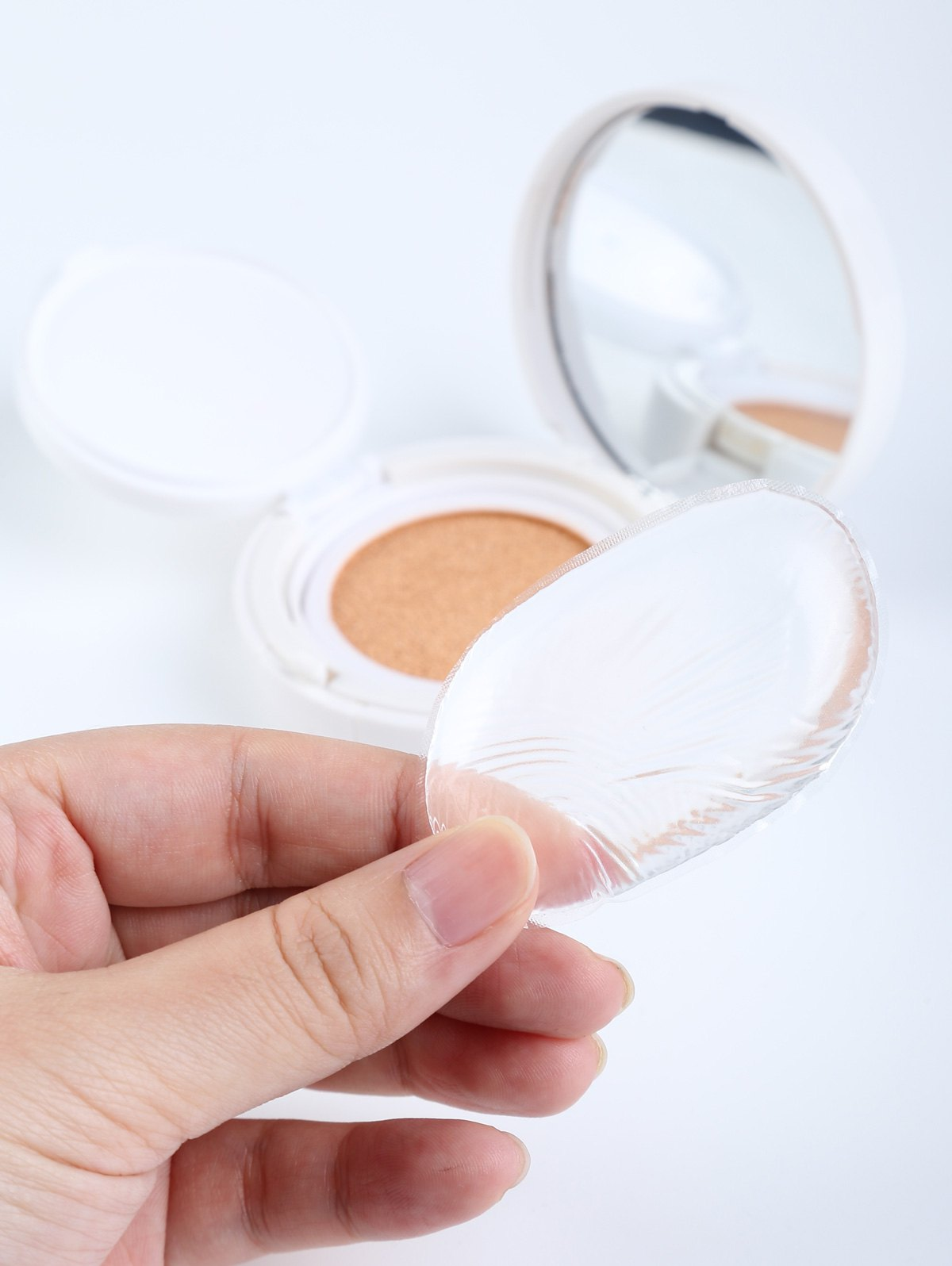 Forme ovale Maquillage silicone éponge - Transparent