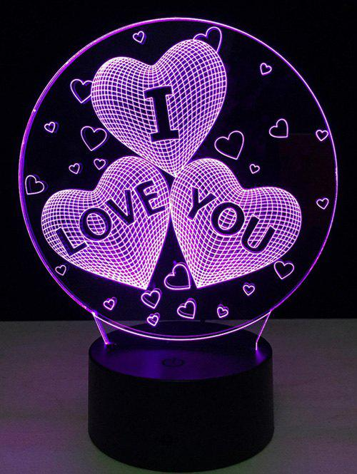 7 Color Change 3D Illusion Love Heart Night Light For Valentine Day 8x10ft valentine s day photography pink love heart shape adult portrait backdrop d 7324