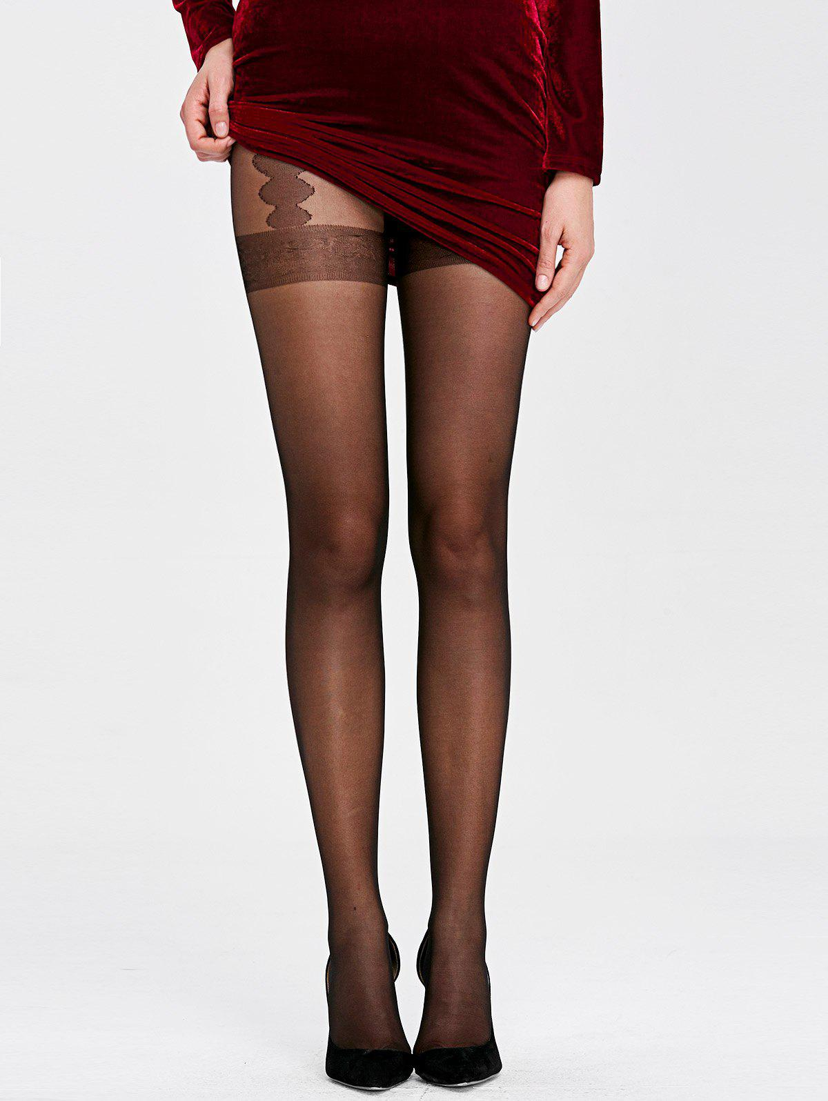See Through Sheer TightsWomen<br><br><br>Size: ONE SIZE<br>Color: BLACK