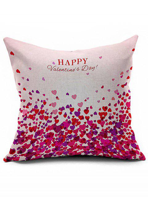 Home Decor Love Pattern Happy Valentine's Day Pillow Case - COLORMIX