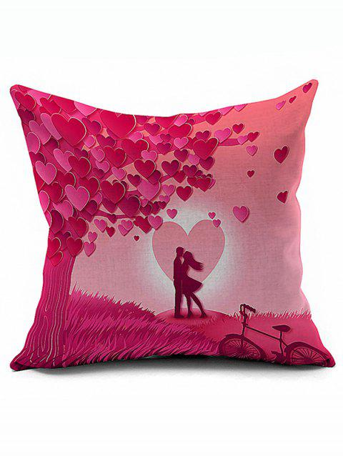 Love Couples Design Valentine Pillow Case - PINK