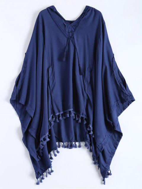 The Endless Hooded Poncho - DEEP BLUE S