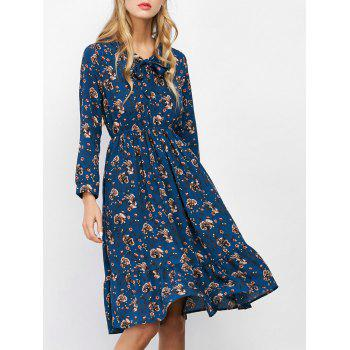 Bow Tie Tiny Floral Dress