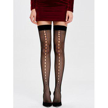 Fishnet Over The Knee Socks - ONE SIZE ONE SIZE