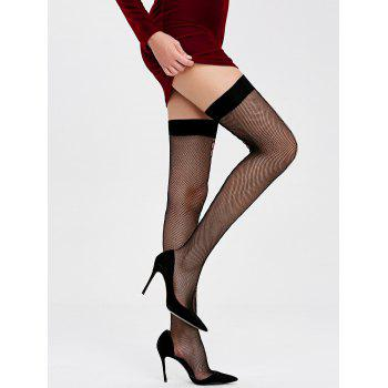 Fishnet Over The Knee Socks