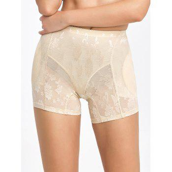 Floral See-Through Padded Boyshorts - COMPLEXION COMPLEXION