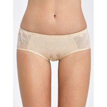 Padded Lace Insert Briefs - COMPLEXION COMPLEXION