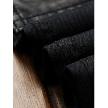 Straight Leg Zippered Pocket Pants - BLACK 36