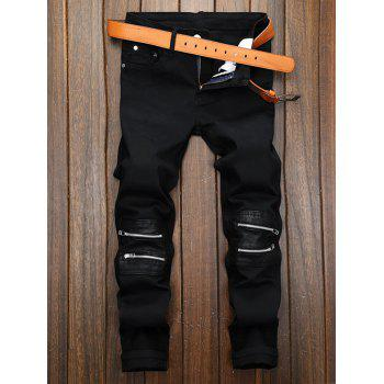 Straight Leg Zippered Pocket Pants