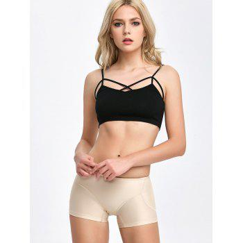 Padded Midi Waist Boyshorts Panties - COMPLEXION COMPLEXION