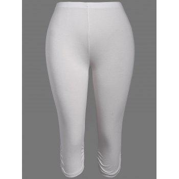 Plus Size Supper Stretchy Ruched Capri Sporty Pants
