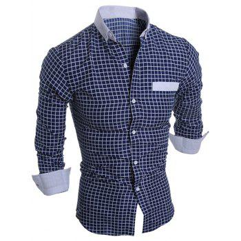 Long Sleeve Button Down Checked Shirt
