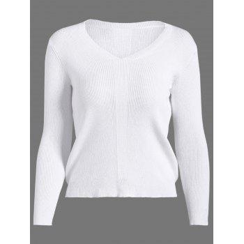 V Neck Basic Pullover Sweater
