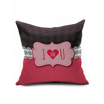 Romantic I Love U Letters Valentine Pillow Case