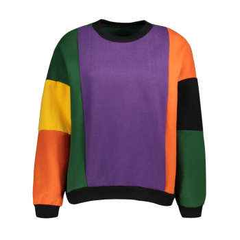 Color Block Fleece Sweatshirt