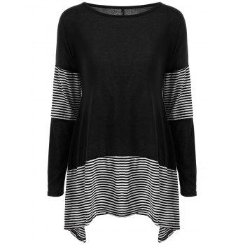 Stripe Long Asymmetric Tee